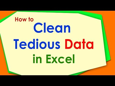 How to Clean Data in Excel