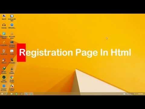 Registration Page in html Html5 Sample Registration Page
