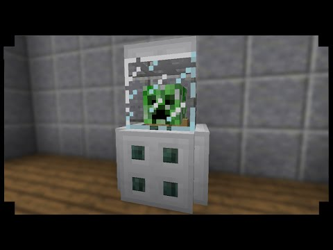✪Minecraft: How to make a helmet display case!
