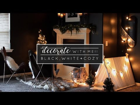 Decorate with Me! Minimal Christmas Mantel