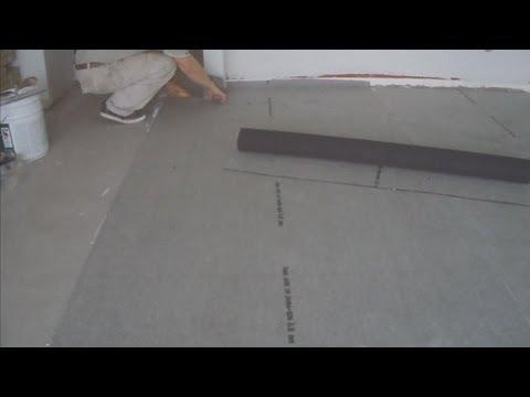 Installing Flooring Underlayment Over Concrete Subfloor For Floor Installation Mryoucandoityourself