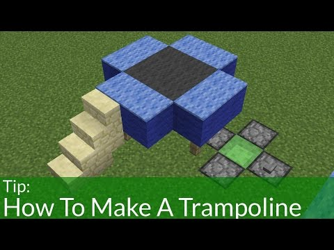 How To Make a Trampoline in Minecraft!