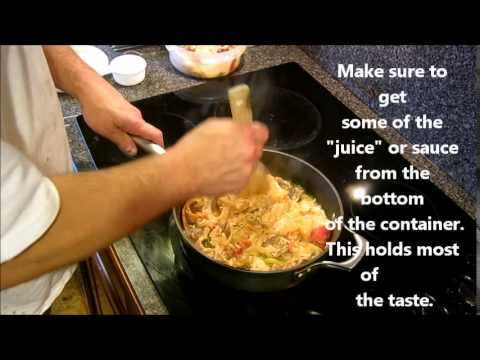 Reheating Chinese Food Hack - How to reheat leftover Chinese Food in about 5 Minutes.