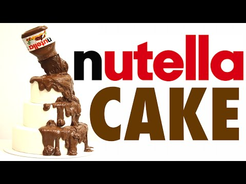 how to make a NUTELLA CAKE WITH A POURING ILLUSION! | Its A Piece Of Cake