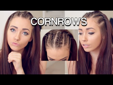 Corn Rows Hair Tutorial ft. Shybexa Hair Extensions