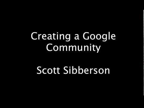 Creating Communities in Google