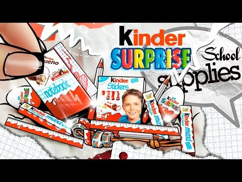 Miniature KINDER Surprise School Supplies: Scotch Tape, Pencils, Notebook, Ruler, Eraser | DIY