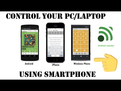 Control Your PC/Laptop using Smartphone [Android, iPhone, Windows Phone] using Unified Remote