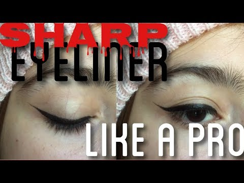Sharp eyeliner like a pro tutorial