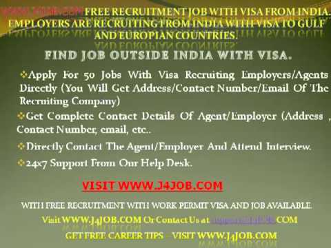USA , America work permit for indians , visa for canada from india for work , IT Job recruitment to