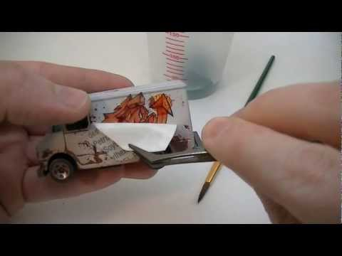 Using Water Transfer Tattoos as Decals for Hot Wheels Customs