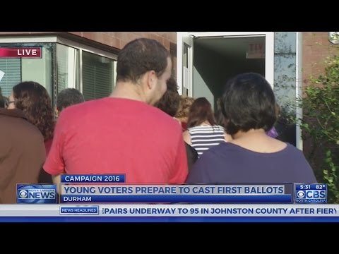 First-time voters cast ballots during Durham early voting