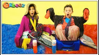 Orbeez Messy Suitcase Challenge!   Official Orbeez