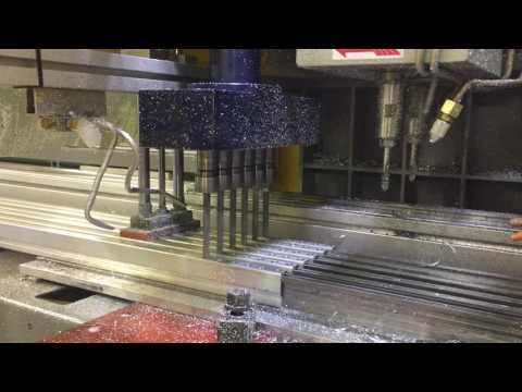 Six Spindle Staggered Drilling Process - AutoDrill