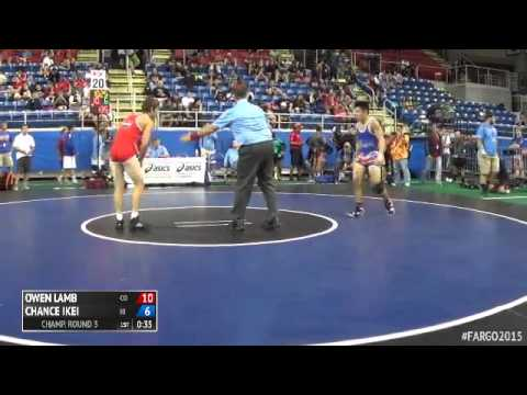 126 Champ. Round 3 - Chance Ikei (Hawaii) vs. Owen Lamb (Colorado)