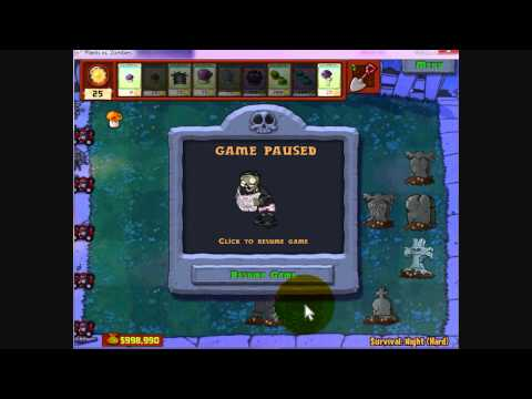 Plants vs Zombies - God Mode [Cheat Engine]