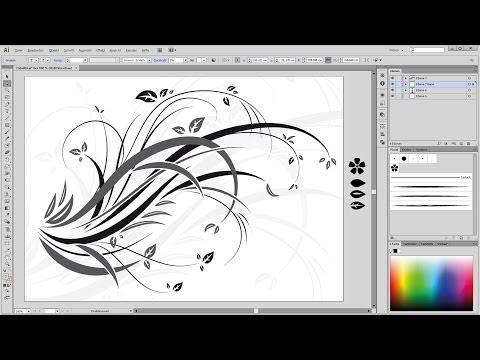 Illustrator Tutorial Floral, Swirl, Ornaments