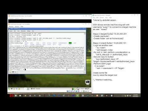 Configure SSH Manual Using SuSe (server) target & SuSe (client)