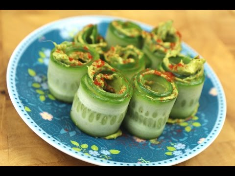 Amazing Cucumber Avocado Rolls