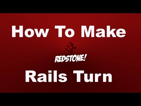 Minecraft - How to make rails turn
