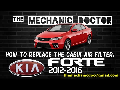 How to Replace the Cabin Air Filter: Kia Forte 2012, 2013, 2014, 2015, 2016.