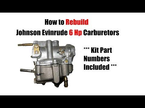 6 Hp Johnson Evinrude Carburetor Rebuild