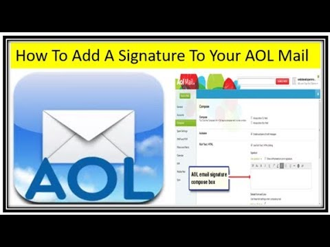 How To Add A Signature To Your AOL Email Account