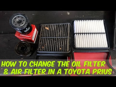 How to change the engine oil, oil filter & air filter in a Toyota Prius - DIY