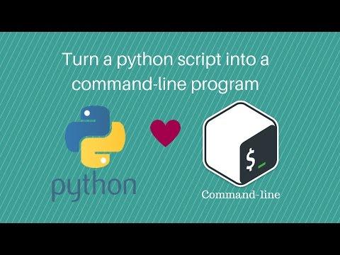 How to turn a python script into a command-line program
