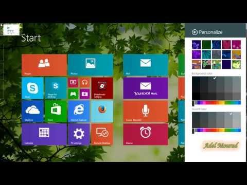 Change Windows 8.1 Theme -Change Start Menu Theme Background Style