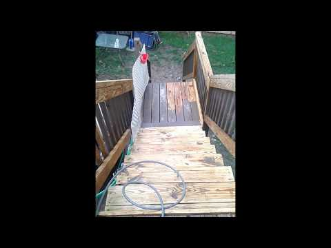 How to remove paint from a deck
