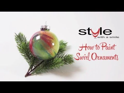 How to Paint Swirl Ornaments - Style with a Smile One-Minute Wow
