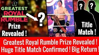 Greatest Rumble Winner Prize Revealed ! The Undertaker Match Change Again ! Huge Return On Raw !