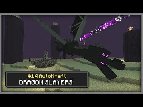 Minecraft - DRAGON SLAYERS ! [ AutoKraft Lets Play #14 ] MCPE / Bedrock