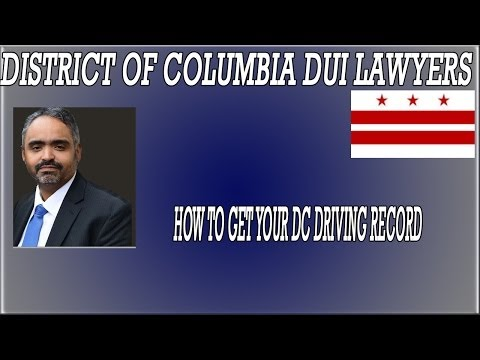 DC Traffic Lawyer explains how to get your DC driving record