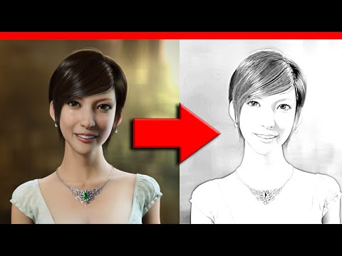 How to create a pencil drawing effect with Gimp - Tutorial (2015)