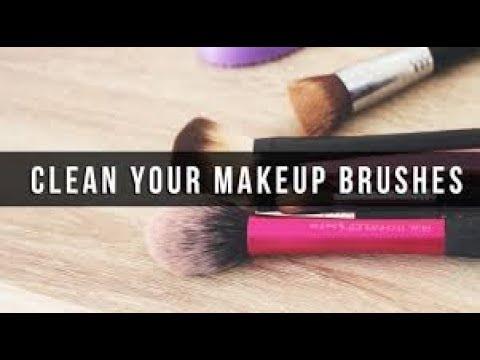 Cleaning makeup brushes   Beauty blender Cleanser vs Makeup Revolution brush shampoo