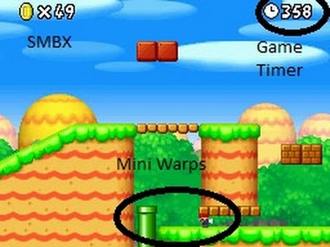 SMBX 1.4.4 : How to put game timer and mini warps