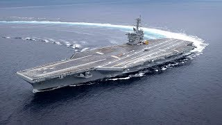 Amazing High-Speed Maneuvers - U.S. Navy Aircraft Carriers & USS Milwaukee Ship Extreme Rudder Tests
