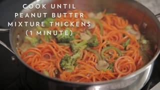 Carrot Noodles with Spicy Thai Peanut Sauce