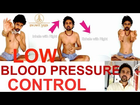 Control Low blood pressure with Yoga