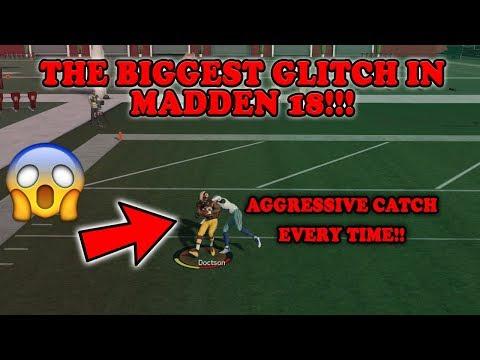 AGGRESSIVE CATCH GLITCH!!! This is the biggest Glitch in Madden 18!!