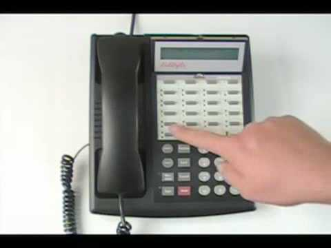 How to change time on an avaya phone