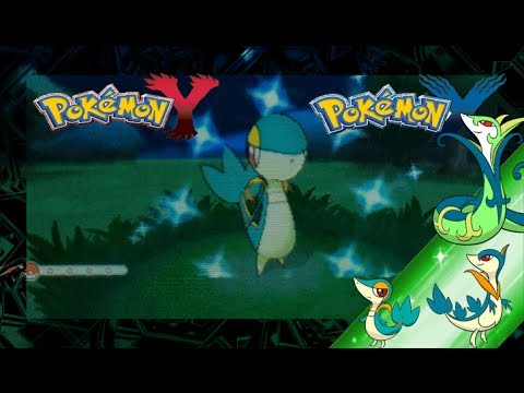Pokemon X and Y Shiny Snivy and Evolutions