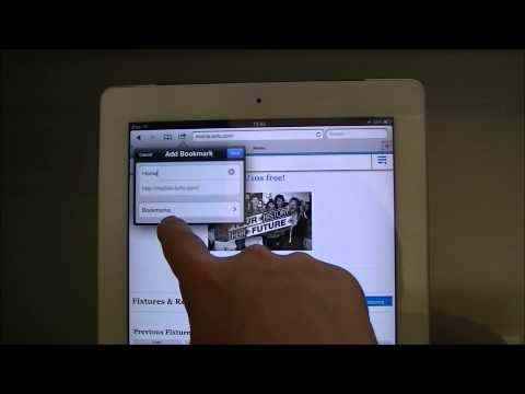 iPad Help   Adding Websites to a Bookmark Folder
