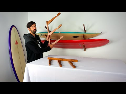Surfboard Rack   Triple Wood Cor   StoreYourBoard