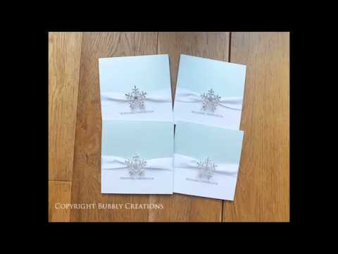 Winter Snowflake Wedding Invitations and Stationery by Bubbly Creations