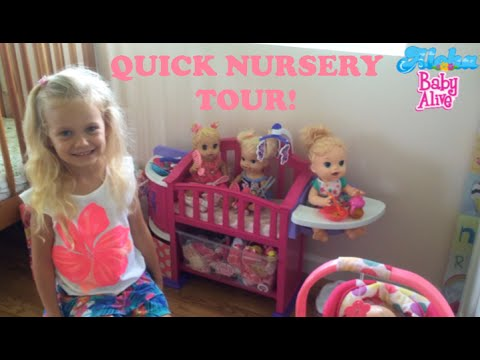 Quick Baby Alive Doll Nursery Tour with Skye😊🍼💖