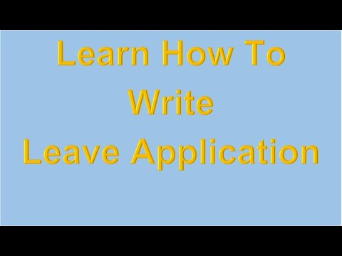 Sample Leave Application Letter For Sister Marriage How To Repair – Sample Leave Application