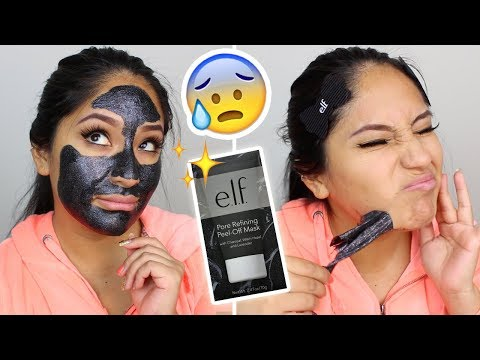 $8 ELF GLITTER MASK PEEL OFF- DOES IT WORK? PAINFUL? ..HAIR WAX??